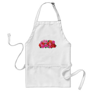 Pink and Red Impatiens Adult Apron