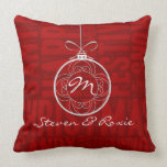 Pink and Red Joy | Holiday Monogrammed Throw Pillows