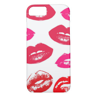 Pink and Red Kisses Lips Case