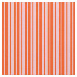 [ Thumbnail: Pink and Red Lined/Striped Pattern Fabric ]