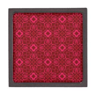 Pink and Red Pattern Premium Keepsake Boxes