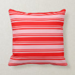 [ Thumbnail: Pink and Red Pattern Throw Pillow ]