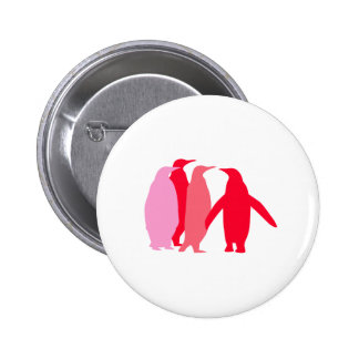 Pink and Red Penguins Pin
