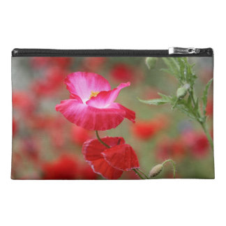 Pink and Red Poppies Photo Travel Accessory Bag