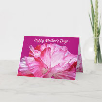 Pink and Red Poppy Flowers Floral Mothers Day Card