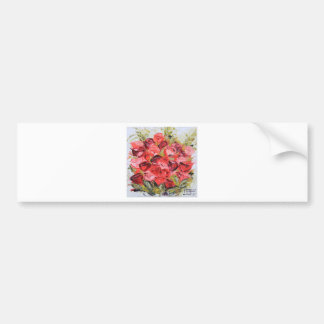 Pink and Red Rose Bouquet , Spring Flowers, Floral Bumper Sticker