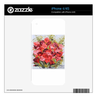 Pink and Red Rose Bouquet , Spring Flowers, Floral iPhone 4 Skins