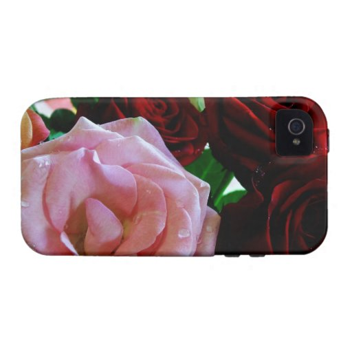 pink and red rose flowers iPhone 4 covers