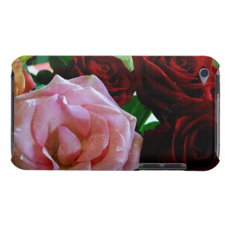 pink and red rose flowers iPod Case-Mate case