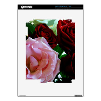 pink and red rose flowers skin for the iPad 2