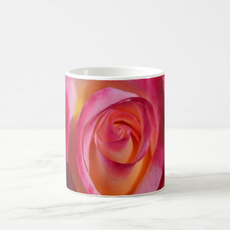 Pink and Red Rose with Yellow Highlights Coffee Mug