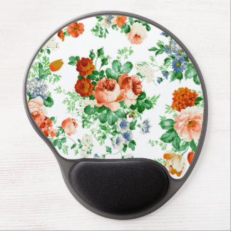 Pink And Red Roses Floral Pattern Gel Mouse Pad