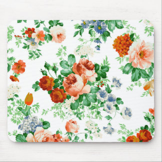 Pink And Red Roses Floral Pattern Mouse Pad