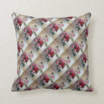 Pink and Red Roses Tiled Throw Pillow