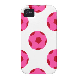 Pink and Red Soccer Ball Pattern Vibe iPhone 4 Cases