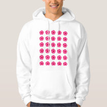 Pink and Red Soccer Ball Pattern Hoodie