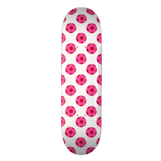Pink and Red Soccer Ball Pattern Skateboards