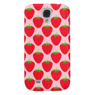 Pink and Red Strawberry Pattern Galaxy S4 Case