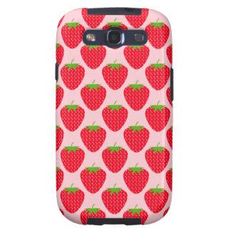 Pink and Red Strawberry Pattern Galaxy SIII Cover