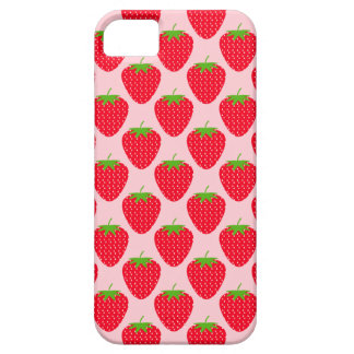 Pink and Red Strawberry Pattern. iPhone SE/5/5s Case