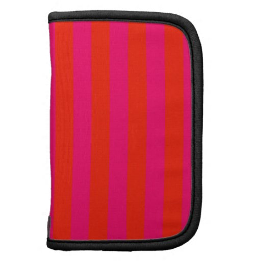 Pink and Red Stripe Background Folio Planners