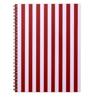 Pink and Red Stripes Note Books
