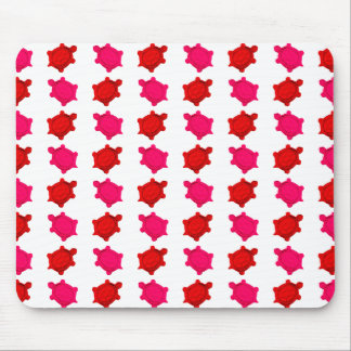 Pink and Red Turtles Mouse Pad