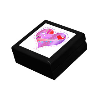 Pink and Red Valentine Heart Gift Box