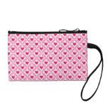 Pink and Red Valentine's Day Hearts Pattern Change Purses
