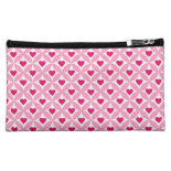 Pink and Red Valentine's Day Hearts Pattern Cosmetics Bags