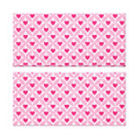 Pink and Red Valentine's Day Hearts Pattern Canvas Prints