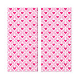Pink and Red Valentine's Day Hearts Pattern Stretched Canvas Prints