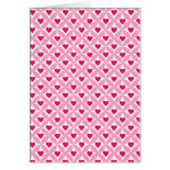 Pink and Red Valentine's Day Hearts Pattern Greeting Cards