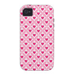 Pink and Red Valentine's Day Hearts Pattern iPhone 4/4S Case