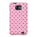 Pink and Red Valentine's Day Hearts Pattern Galaxy S2 Case