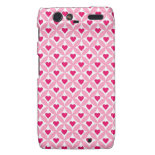 Pink and Red Valentine's Day Hearts Pattern Motorola Droid RAZR Cases