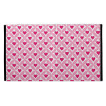 Pink and Red Valentine's Day Hearts Pattern iPad Cases