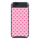 Pink and Red Valentine's Day Hearts Pattern Cover For iPhone 5