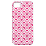 Pink and Red Valentine's Day Hearts Pattern iPhone 5 Cases