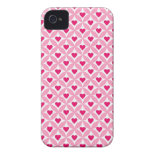 Pink and Red Valentine's Day Hearts Pattern iPhone 4 Cases