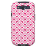 Pink and Red Valentine's Day Hearts Pattern Samsung Galaxy SIII Covers