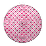 Pink and Red Valentine's Day Hearts Pattern Dart Boards
