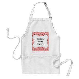 Pink and Red Valentine's Day Hearts Pattern Gifts Adult Apron