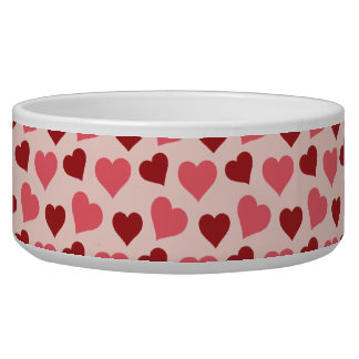 Pink and Red Valentine's Day Hearts Pattern Gifts Bowl