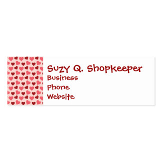 Pink and Red Valentine's Day Hearts Pattern Gifts Business Card