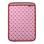 Pink and Red Valentine's Day Hearts Pattern MacBook Air Sleeve