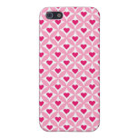 Pink and Red Valentine's Day Hearts Pattern iPhone 5 Covers