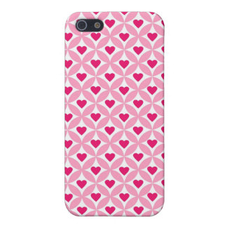 Pink and Red Valentine's Day Hearts Pattern iPhone SE/5/5s Cover