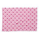 Pink and Red Valentine's Day Hearts Pattern Kitchen Towels