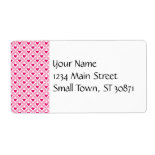 Pink and Red Valentine's Day Hearts Pattern Custom Shipping Label